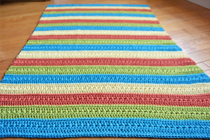 Falling Spring Crochet Fruity Popsicle Blanket Featured Image