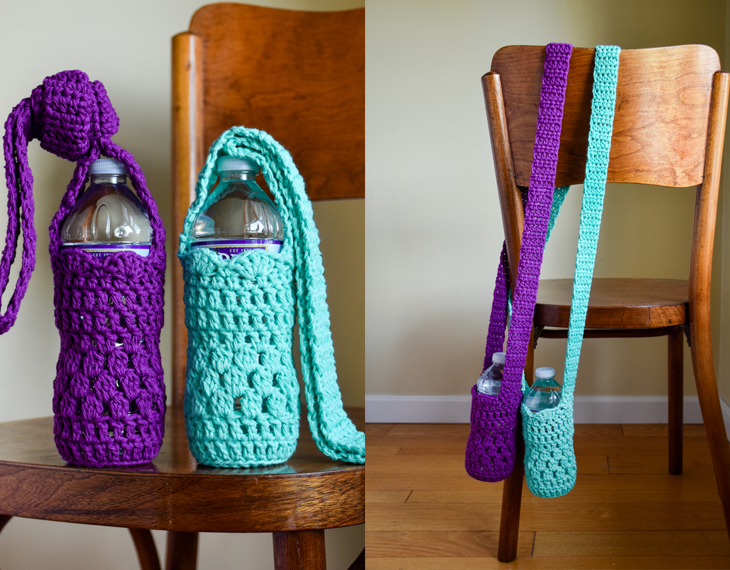 Falling Spring Crochet Water Bottle Sling Crochet Pattern Featured Image