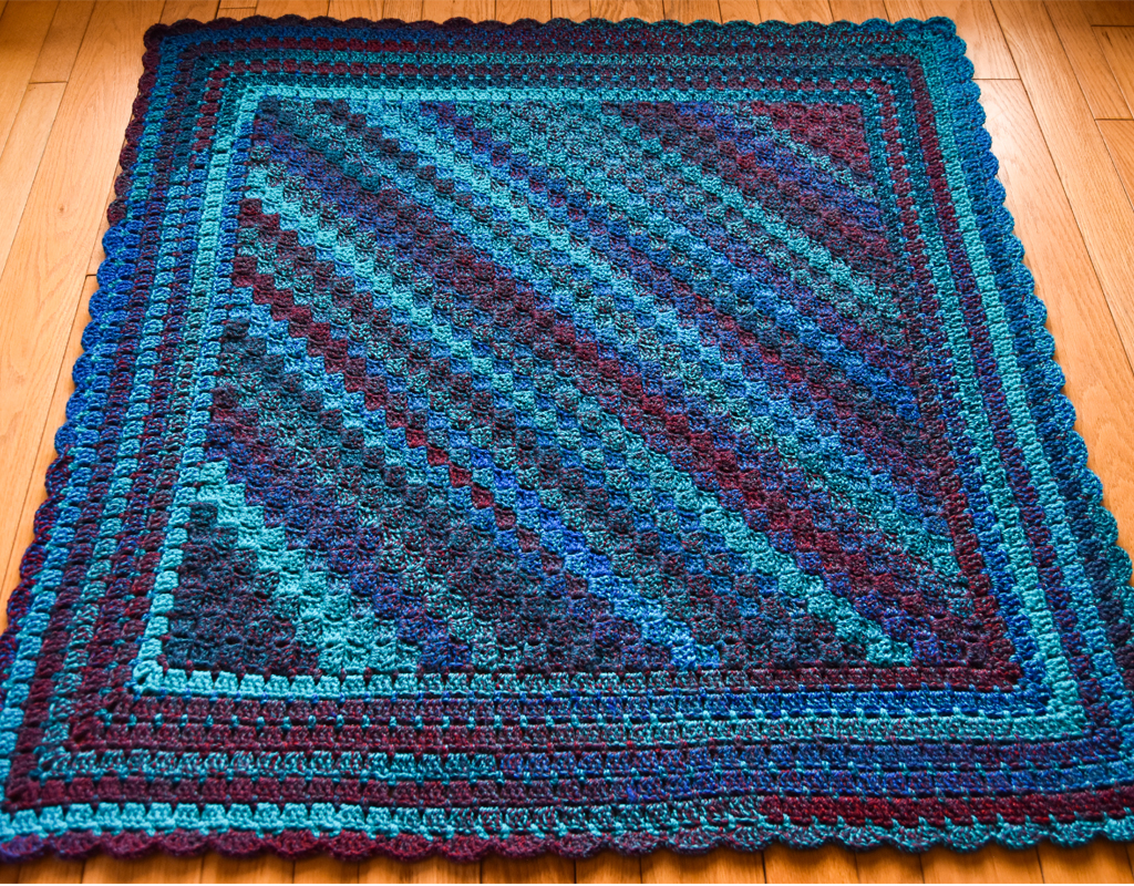 b5300f93a Cozy Corner to Corner Afghan Free Crochet Pattern I received a few skeins  of this gorgeous